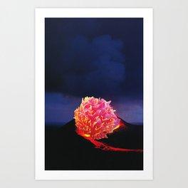 Volcanic Flower Art Print