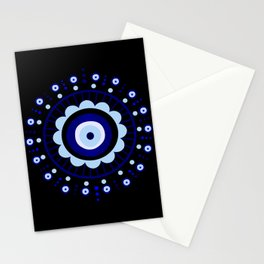 Evil Eye Flower Burst Stationery Cards