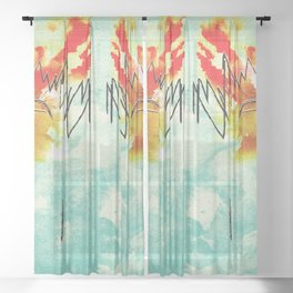 Angry Talking Sheer Curtain