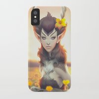 princess iPhone & iPod Cases featuring Deer Princess by Artgerm™