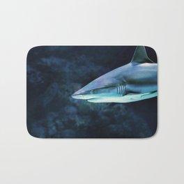 Gray Shark Head (Color) Bath Mat