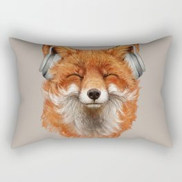 The Musical Fox Rectangular Pillow