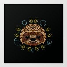 Sloth Face Canvas Print