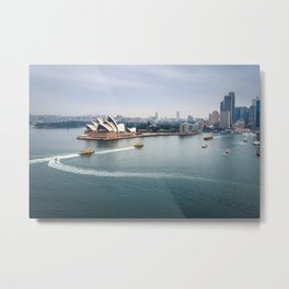 Sydney city center and Harbor, Australia Metal Print