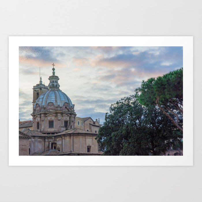 Roman Sunset Art Print