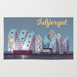 Isbjerget - The Iceberg Denmark Travel Poster Rug