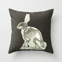 Rabbit Skeleton: Easter Gift Bunny Anatomy Throw Pillow