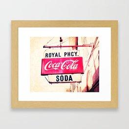 Royal Pharmacy Vintage Sign - New Orleans Framed Art Print