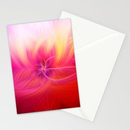 Sunset Swirling Light Fibers Stationery Cards