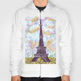 Eiffel Tower Pointillism by Kristie Hubler Hoody