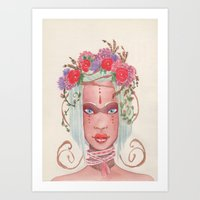 maori Art Prints featuring Maori by KK Twiice Key