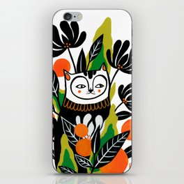 Mossy Cat iPhone Skin