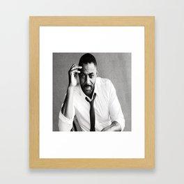 Idris Elba Framed Art Print