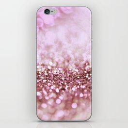 Pink Sparkle shiny glitter effect print - Sparkle Valentine Backdrop iPhone Skin