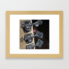 Bass Guitar Headstock Framed Art Print