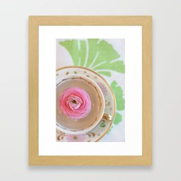 Teacup Flower Framed Art Print