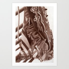 Cowboy Duds Art Print