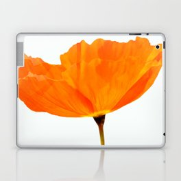 One And Only - Orange Poppy White Background #decor #society6#buyart Laptop & iPad Skin