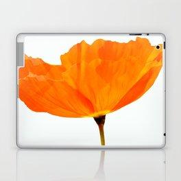 One And Only - Orange Poppy White Background #decor #society6 #buyart Laptop & iPad Skin