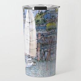 La Citta' sul mare Travel Mug