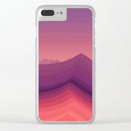 iso mountain evening Clear iPhone Case