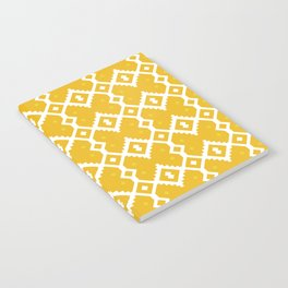 Yellow Chevron Diamond Pattern Notebook