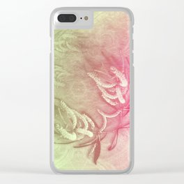 Pink and green wattle and kaleidoscope Clear iPhone Case