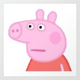 Peppa Pig Art Print