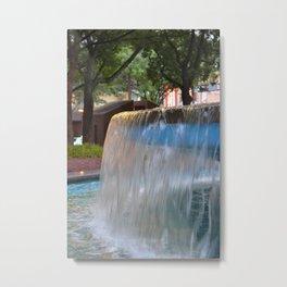 City Fountain Metal Print