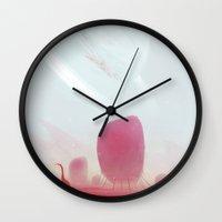 calm Wall Clocks featuring Calm by Kuldar Leement