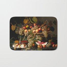 Severin Roesen - Still Life with Fruit, 1852 Bath Mat
