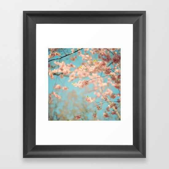 Dance of the Cherry Blossom Framed Art Print