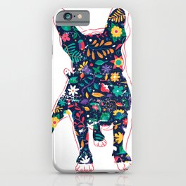 Flower Bulldog iPhone Case