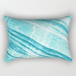 Abstract Marble - Teal Turquoise Rectangular Pillow