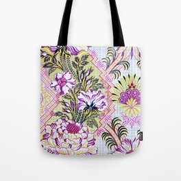 Painted Antique French Pattern Recolored Tote Bag