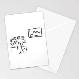 stock exchange stockbroker fund manager Stationery Cards