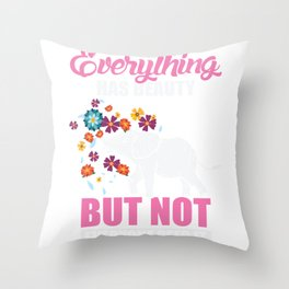 Everything Has Beauty Animal Elephant Love Throw Pillow