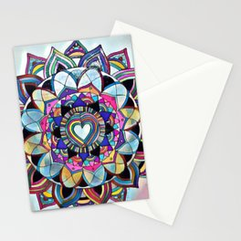 From the heart Mandala Stationery Cards