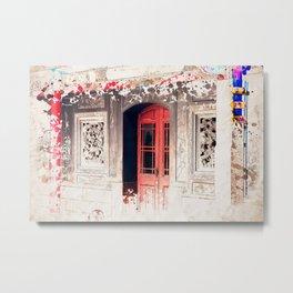 Door at Longshan Temple Metal Print