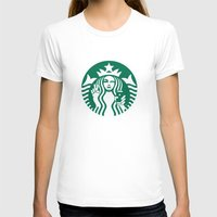starbucks T-shirts featuring Selfie - 'Starbucks ICONS' by Alejo Malia