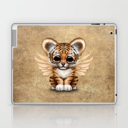 Cute Baby Tiger Cub with Fairy Wings  Laptop & iPad Skin