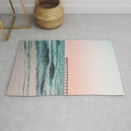 Beach Pier Sunrise Rug