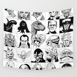 Inktober Monsters Wall Tapestry