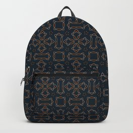 gothic star shapes pattern on the deep background Backpack