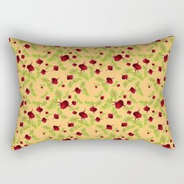 Orange Beauty and the Beets Rectangular Pillow