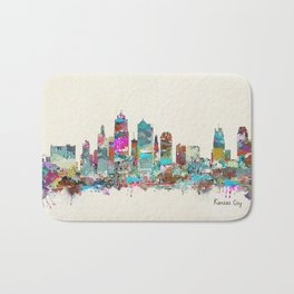 kansas city Missouri skyline Bath Mat