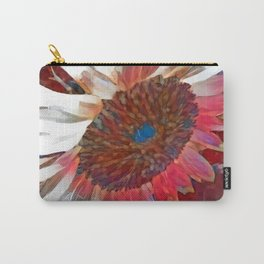 Red and Blue Sunflower Carry-All Pouch