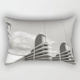 PAN PACIFIC AUDITORIUM BLACK AND WHITE Rectangular Pillow