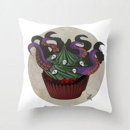 Killer Cupcake Throw Pillow