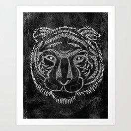 Tiger Lines Art Print